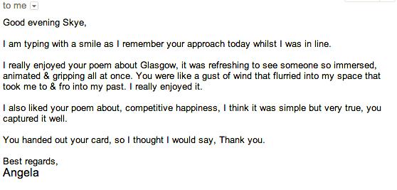 Anglea's feedback